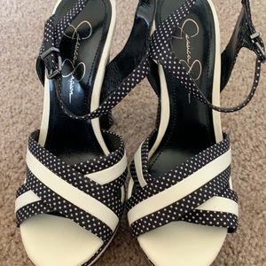Jessica Simpson Platform shoes Polka Dot Patia 7.5